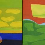 """""""Ocaso""""    óleo-tela   25 x 40 cm   2008"""