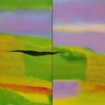 ¨Yo soy el bosque¨   óleo-tela   99.5 x 160 cm   2009