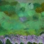 """""""Nuestro bosque arrullándonos""""    óleo-tela   27 x 60 cm   2010"""