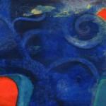 """""""Mar y fuego""""   óleo-tela   60 x 80 cm   2006"""